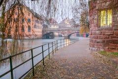 Strasbourg. Quay St. Thomas. Stock Photos