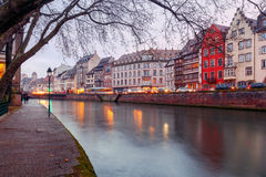 Strasbourg. Quay St. Thomas. Royalty Free Stock Images