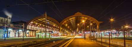 Strasbourg railway station at night Stock Photography