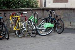 Strasbourg rent bike Vélhop, Strasbourg, France royalty free stock photos
