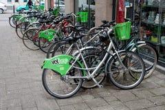 Strasbourg rent bike Vélhop, Strasbourg, France royalty free stock image