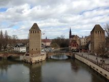 Strasbourg river. Cute Strasbourg in early spring Stock Photography