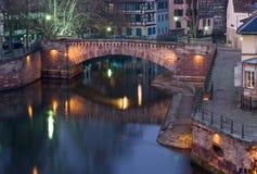 Strasbourg River at Dusk Royalty Free Stock Image
