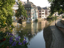 Strasbourg. The river Ill in the Petite France, Strasbourg, France Stock Photography