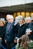 Strasbourg rymmer tyst vaka för de som dödas i Paris attack Arkivfoto