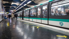 Strasbourg Saint-Denis Metro Statition. Royalty Free Stock Photos