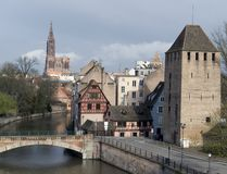 Strasbourg scenery with cathedral Stock Images