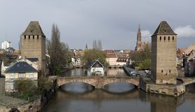 Strasbourg scenery in cloudy ambiance Stock Images
