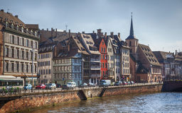 Strasbourg street from river Royalty Free Stock Photo