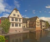 Strasbourg in summer. Landscape with historical buildings in Strasbourg, Alsace, France Stock Image