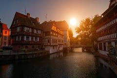 Strasbourg Sunset Stock Images