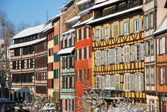 In Strasbourg town during winter. Strasbourg during winter in France Stock Image