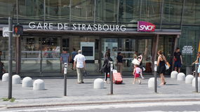 Strasbourg train station, France Royalty Free Stock Photos