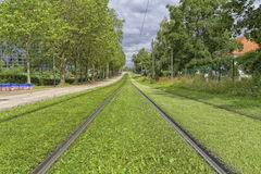Strasbourg tram rail in France Royalty Free Stock Photo