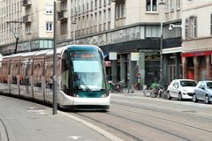 Strasbourg tramway Royalty Free Stock Photography