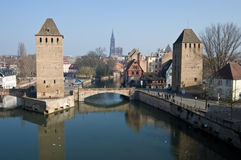 Strasbourg Two Towers Stock Photo