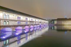 Strasbourg. Vauban Dam at night. Stock Images