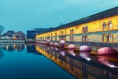 Strasbourg. Vauban Dam at night. Royalty Free Stock Image