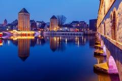 Strasbourg. Vauban Dam at night. Royalty Free Stock Images