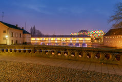 Strasbourg. Vauban Dam at night. Royalty Free Stock Photos