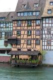 Strasbourg, water canal in Petite France area Royalty Free Stock Images