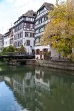 Strasbourg, water canal in Petite France area Royalty Free Stock Photography
