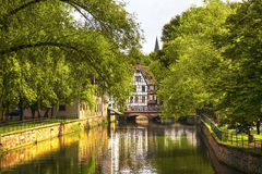 Strasbourg, water canal in Petite France area, Unesco site. Alsa Stock Photos
