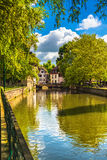 Strasbourg, water canal in Petite France area, Unesco site. Alsa Stock Image