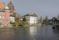 Strasbourg waterside Royalty Free Stock Photos