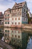 strasbourg Wizerunek Mały Francja historyczny teren miasto w Alsace fotografia stock