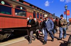 Strasburg, PA: Mennonite Family at Strasburg Railroad Royalty Free Stock Photo