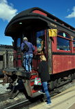 Strasburg, PA: Passengers Boarding Vintage Train Royalty Free Stock Images