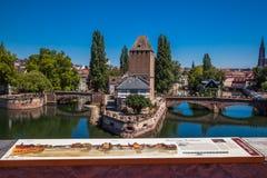 Strasburg w Alsace, zapora Vouban, Francja Zdjęcia Stock