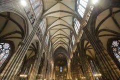 Strasburg - wnętrze katedra, wnętrze obrazy royalty free