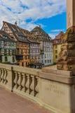 Strasburg, wodny kanał i ładny dom w Małym Francja terenie, obraz royalty free