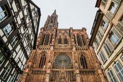Strasburgo, cattedrale Notre Dame L'Alsazia, Francia Fotografia Stock Libera da Diritti