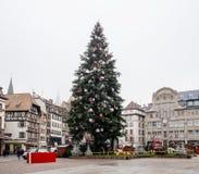 Strasburgo Francia dopo i attacchi terroristici al mercato di Natale fotografia stock libera da diritti
