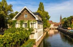 Strasburgo nell'area di Petite France Fotografia Stock
