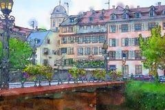Strasburgo, regione Petite France Fotografie Stock Libere da Diritti