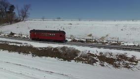 Strasburgrailcar in Amish-Platteland door Hommel stock videobeelden