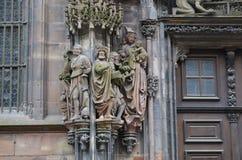 Strasburscy katedralni szczegóły, Strasburski Francja zdjęcie royalty free