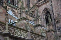 Strasburscy katedralni szczegóły, Strasburski Francja obrazy stock