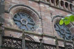 Strasburscy katedralni szczegóły, Strasburski Francja fotografia royalty free