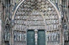 Strasburscy katedralni szczegóły, Strasburski Francja obraz stock