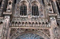 Strasburscy katedralni szczegóły, Strasburski Francja obrazy royalty free