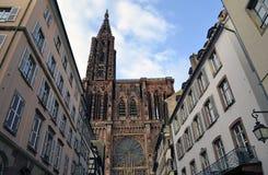 Strasburscy katedry i miasta budynków szczegóły, Strasburski Francja fotografia stock