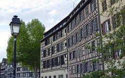 Strasburscy miasto budynków szczegóły w Francja zdjęcie royalty free