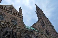 Strasburska katedra w Strasburskim Francja zdjęcia royalty free