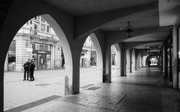 Strasburski Francja po ataków terrorystycznych przy boże narodzenie rynkiem fotografia stock