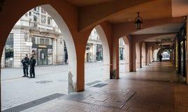 Strasburski Francja po ataków terrorystycznych przy boże narodzenie rynkiem obrazy royalty free